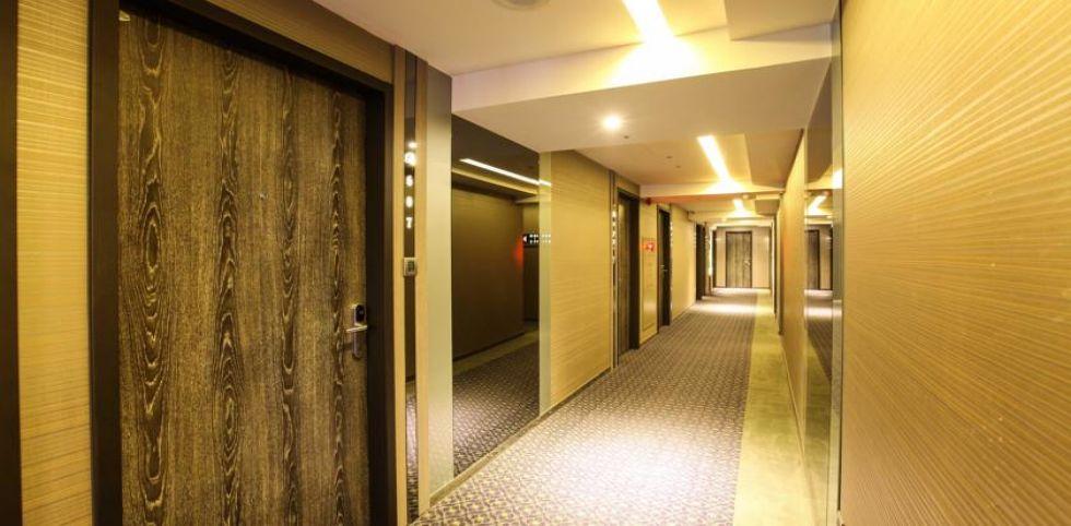 峻美精品旅店 - 走廊